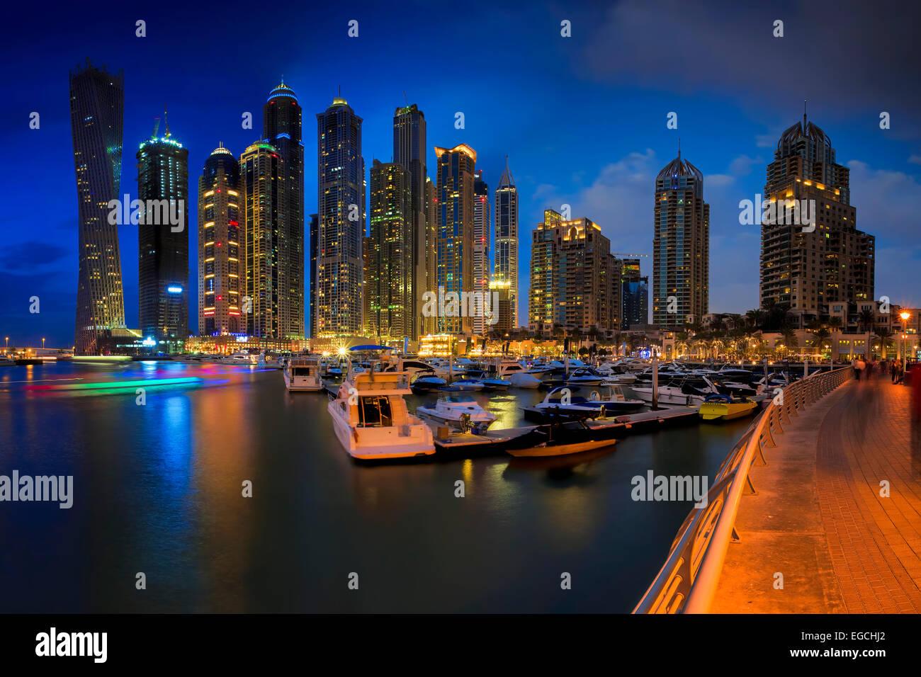 Dubai Marina Immagini Stock