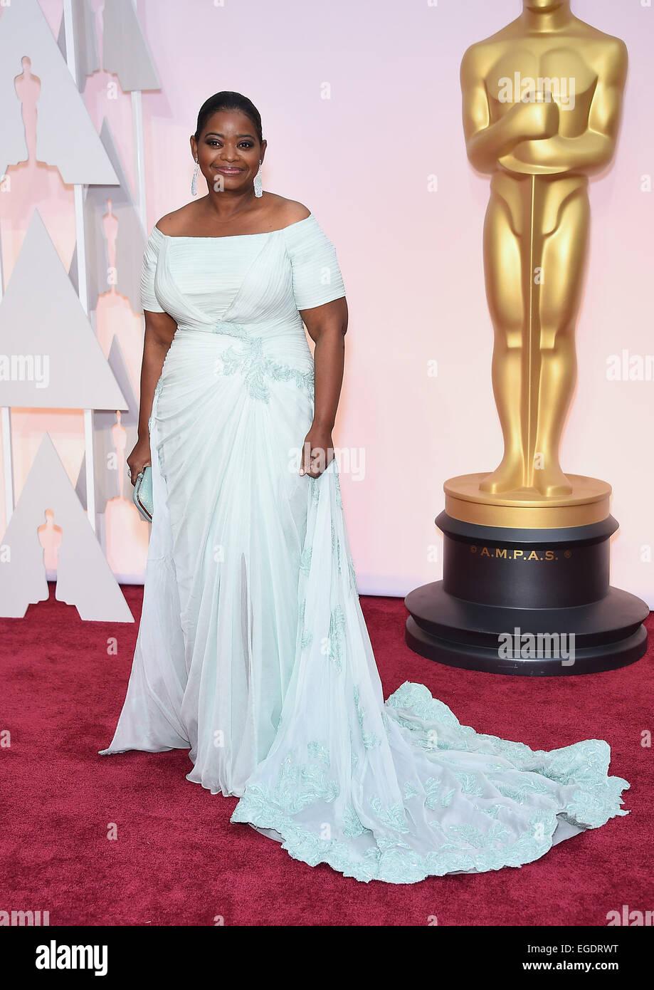 Hollywood, California, USA. Il 22 febbraio, 2015. OCTAVIA SPENCER sul tappeto rosso durante gli arrivi per la 87th Academy Awards. (Credit: Lisa O'Connor/ZUMA filo) Foto Stock