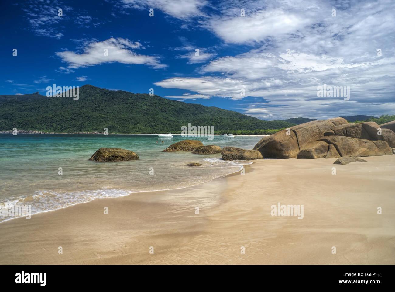 Pittoresca isola di Ilha Grande in Brasile, Sud America Immagini Stock