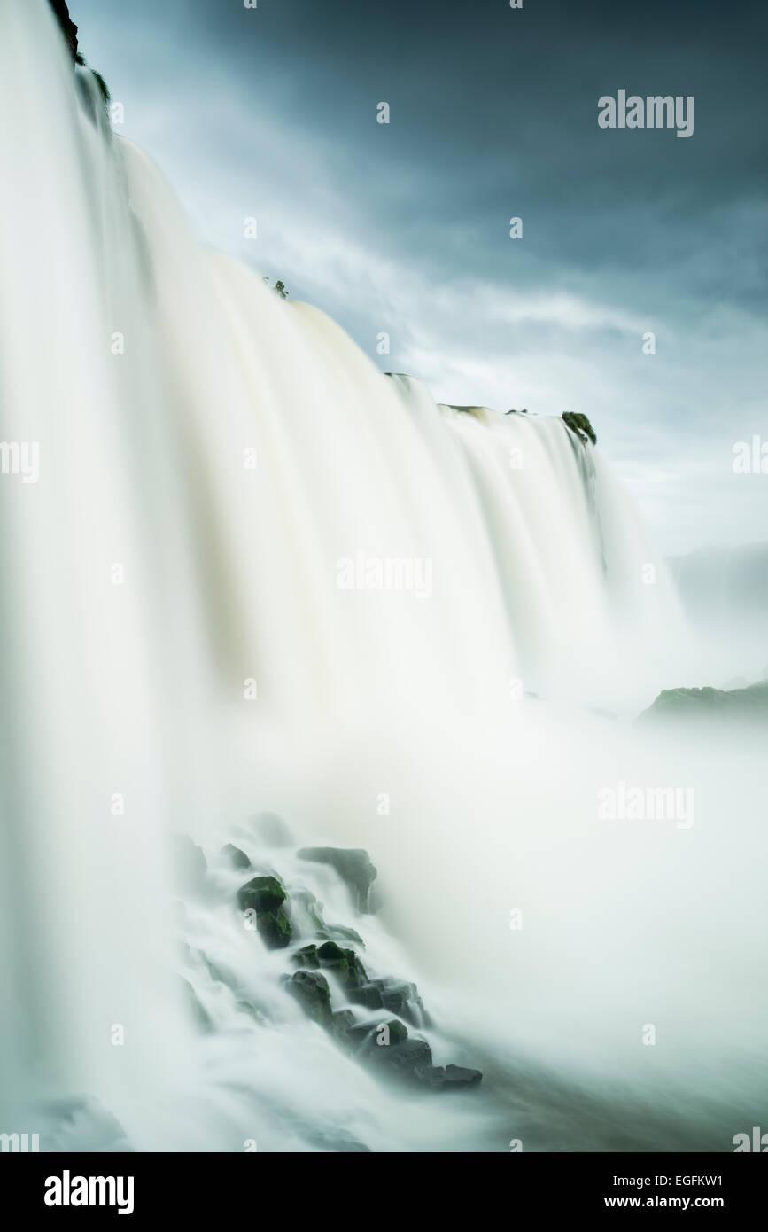 Garganta do Diablo, di Foz do Iguaçu, Parque Nacional do Iguaçu, Brasile Immagini Stock