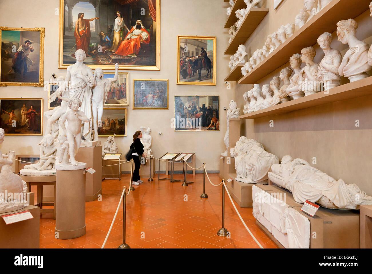 L'Italia, Firenze, Accademia di Belle Arti Immagini Stock