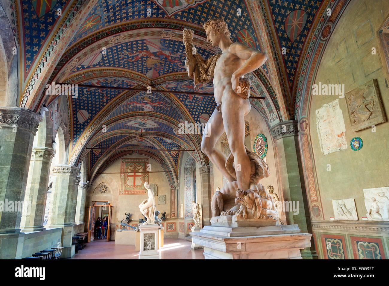 Museo Del Bargello.L Italia Firenze Museo Nazionale Del Bargello Foto Immagine