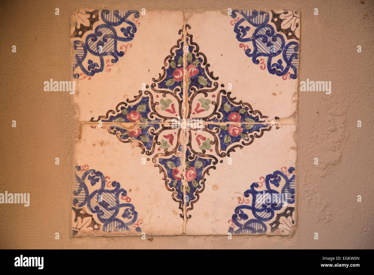 Vintage in ceramica decorata piastrelle italiane foto & immagine