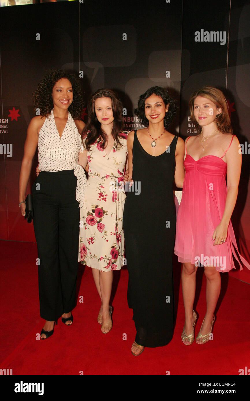 (L a r) GINA TORRES, estate Glau, MORENA BACCARIN, Jewel Staite, a Premiere mondiale di 'Serenity' film, Immagini Stock