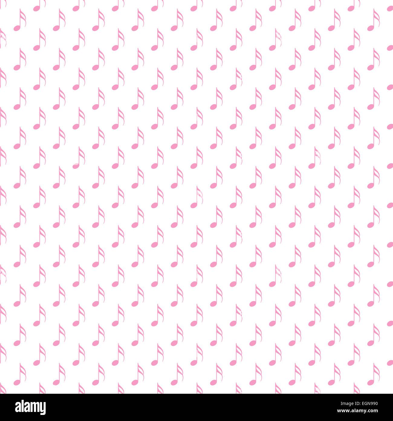 Bianco E Rosa Note Musicali A Pois Pattern Di Sfondo Texture Foto