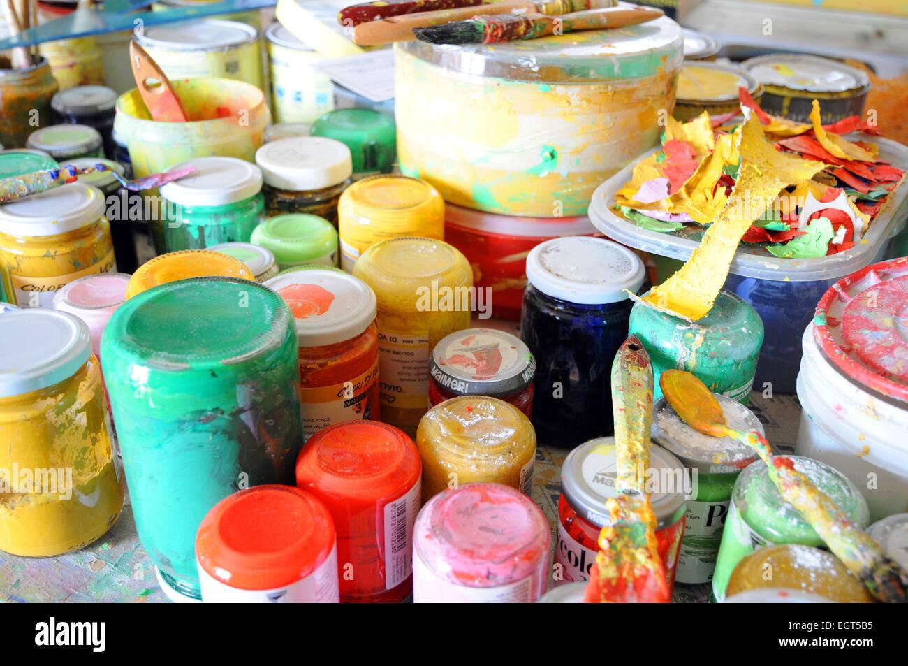 Colore Colore pittore artista pittore artista Immagini Stock