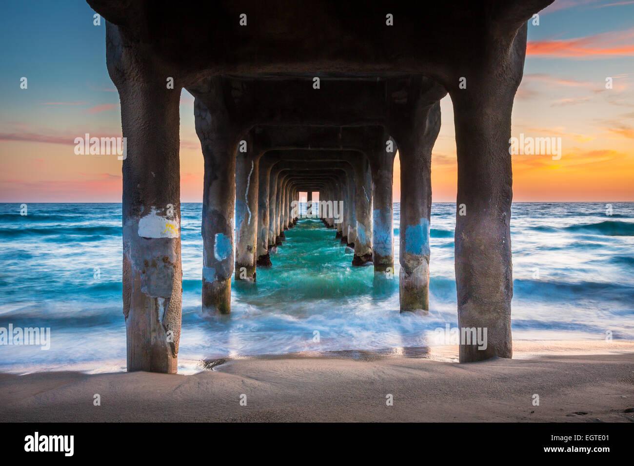 Il Porto di Manhattan è un molo situato a Manhattan Beach in California, sulla costa dell'Oceano Pacifico. Immagini Stock
