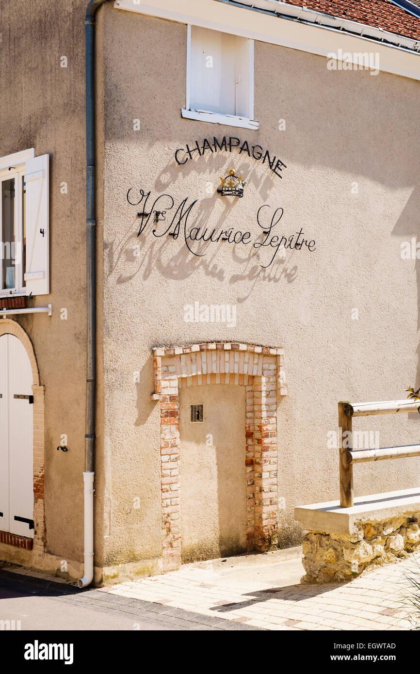 Veuve Maurice Lepitre Champagne in casa Rilly-la-Montagne, Champagne, Francia, Europa Immagini Stock