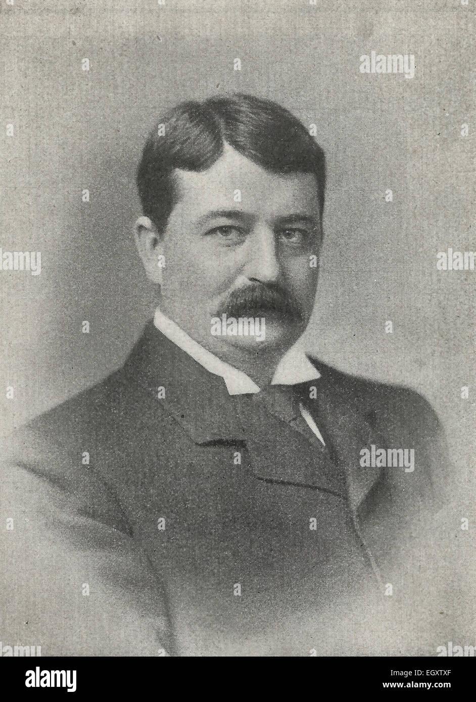 Onorevole W. P. Schreiner, C.M.G., Primo Ministro della colonia del Capo, in Sud Africa, circa 1895 Immagini Stock
