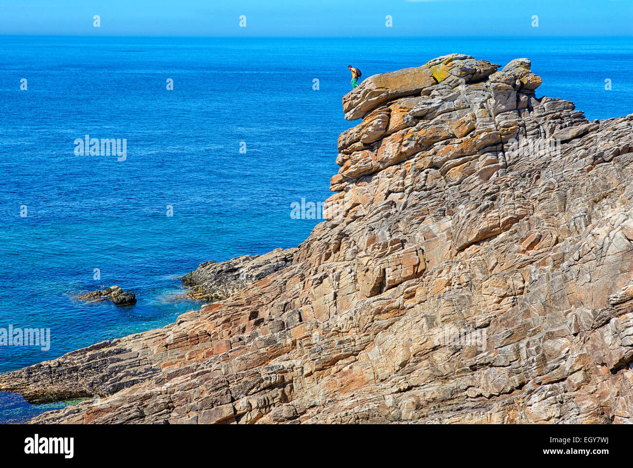 Francia, Bretagna, Cote Sauvage a penisola Qiberon Immagini Stock