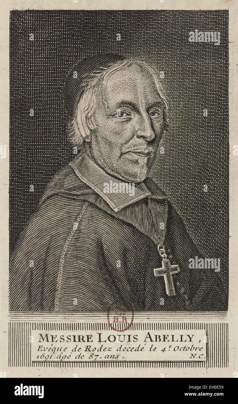 Louis Abelly (1603 - 1691), Vescovo di Rodez, collaboratore di Saint Vincent de Paul, Teologo francese contro il Foto Stock