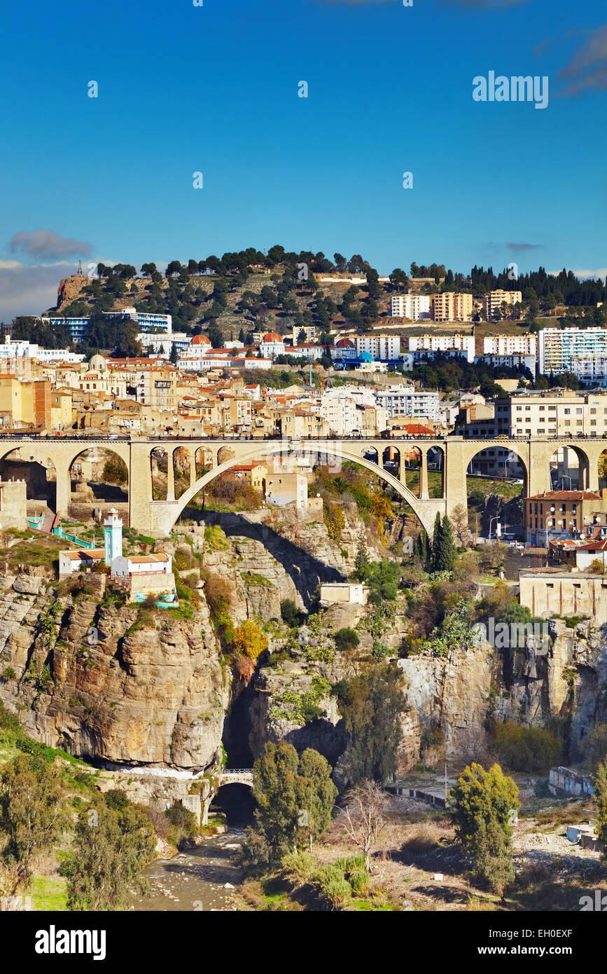 Costantino, la terza città più grande di Algeria Immagini Stock