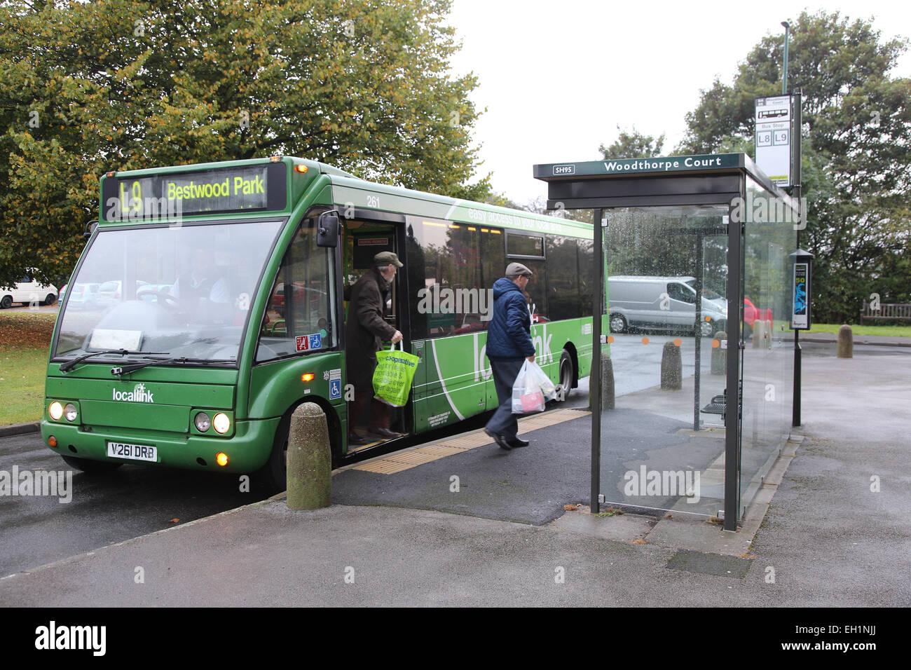Il servizio di bus locale, Nottingham, Immagini Stock