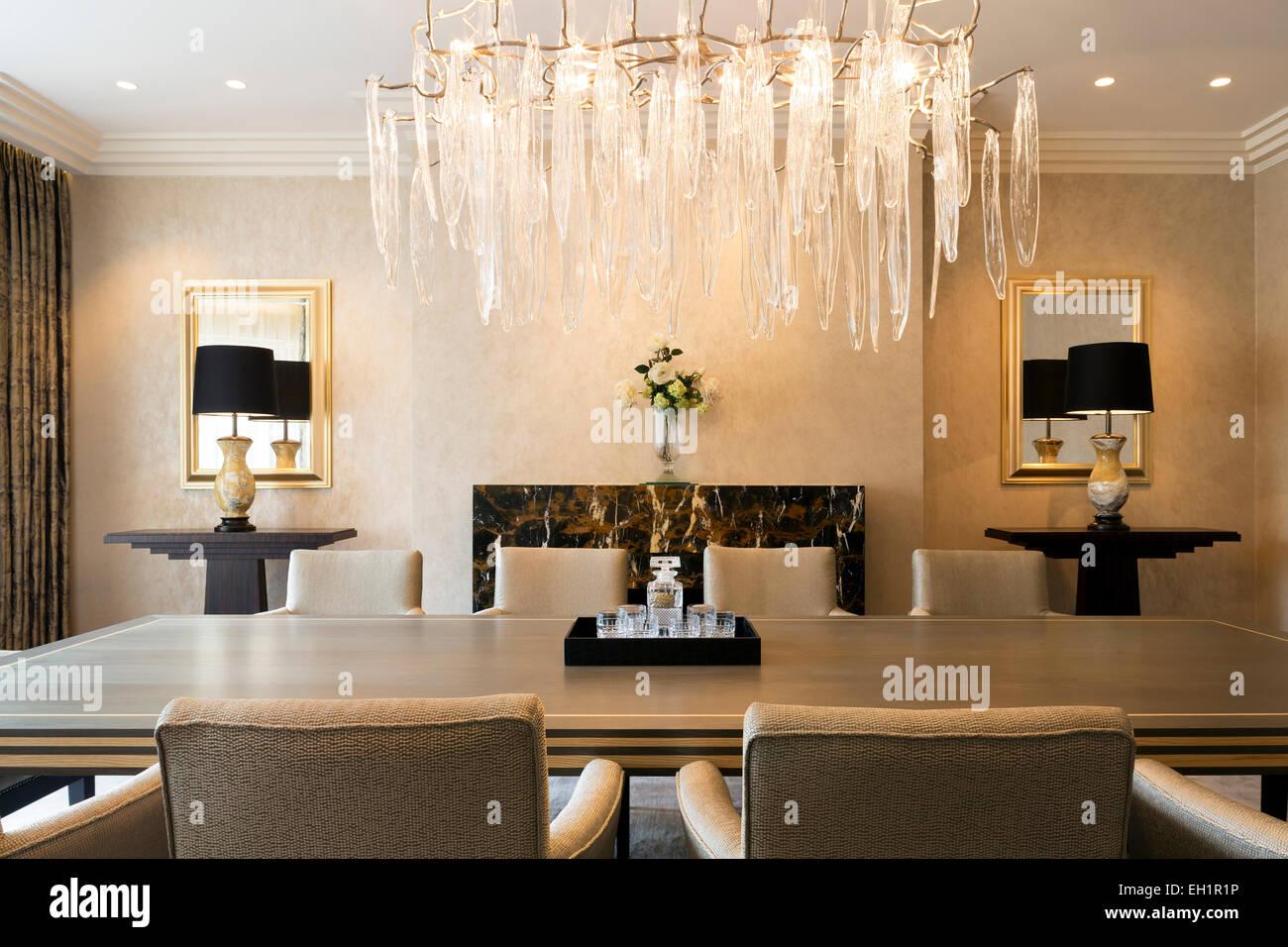 Tavoli Da Pranzo Di Lusso.Interni Di Lusso Progettati Home In Harrogate Sala Da Pranzo Con Un
