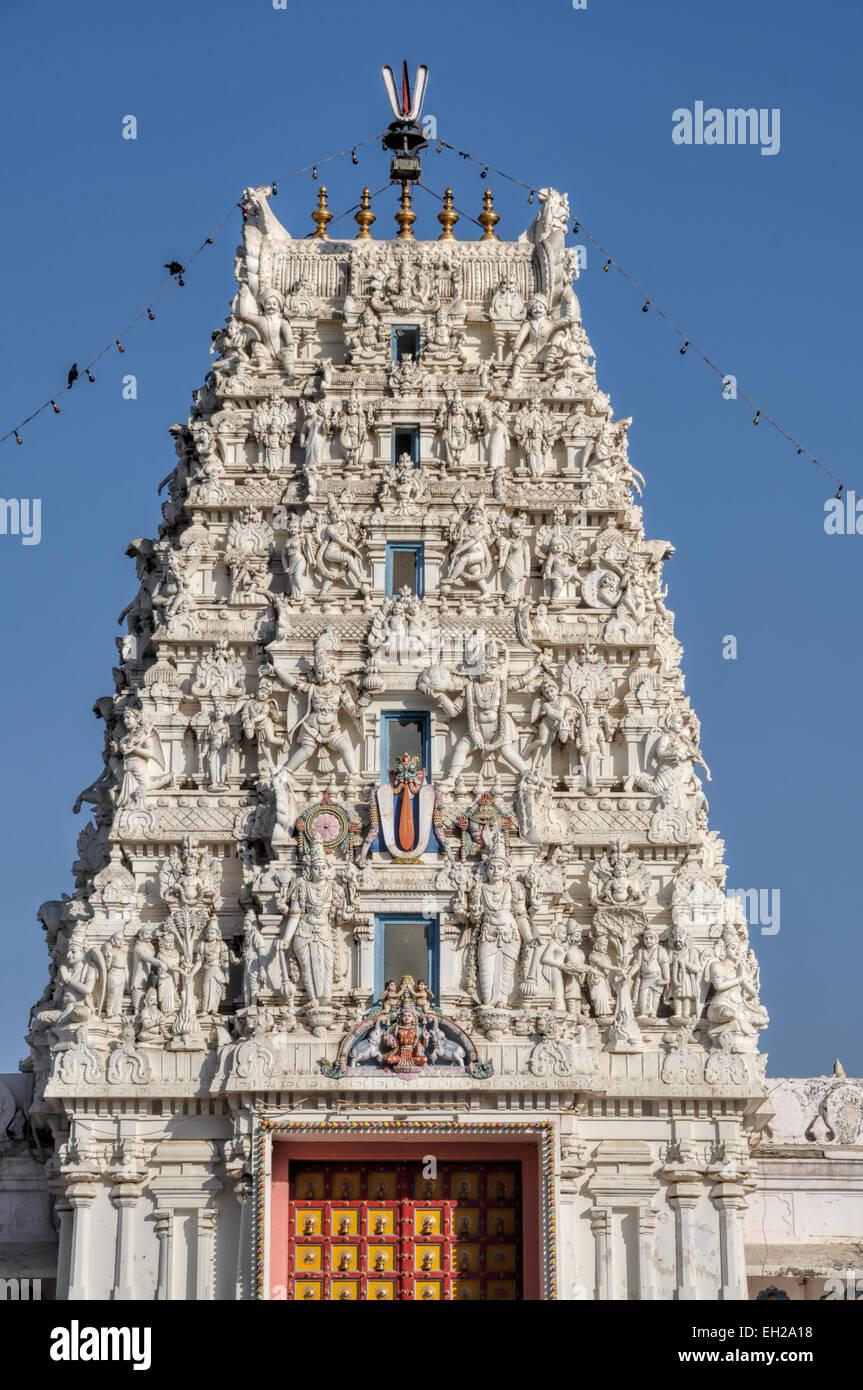 Facciata del tempio nel deserto di Thar Immagini Stock