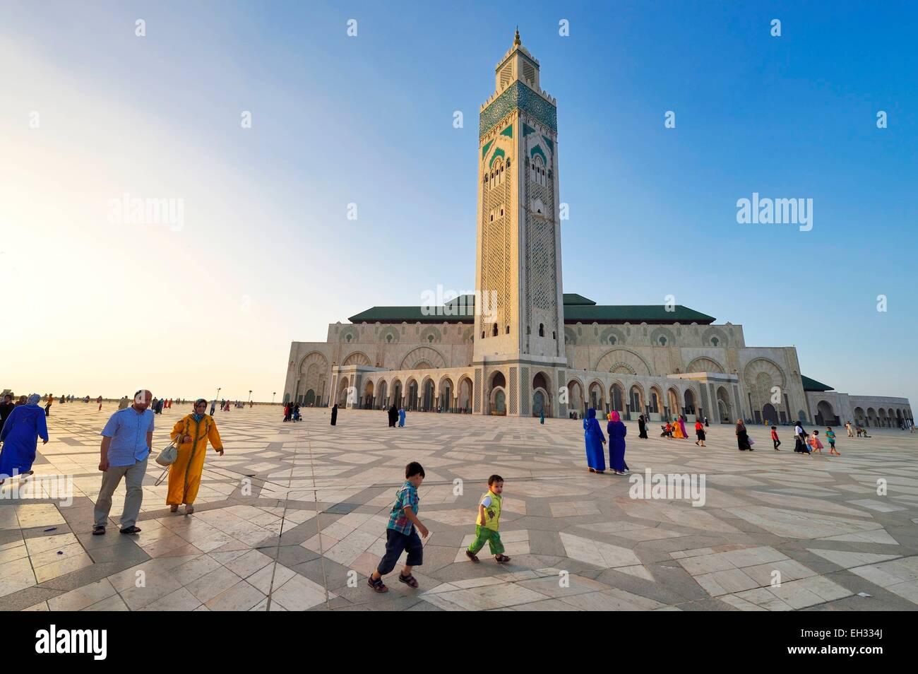 Il Marocco, Casablanca, Gran Moschea di Hassan II Immagini Stock