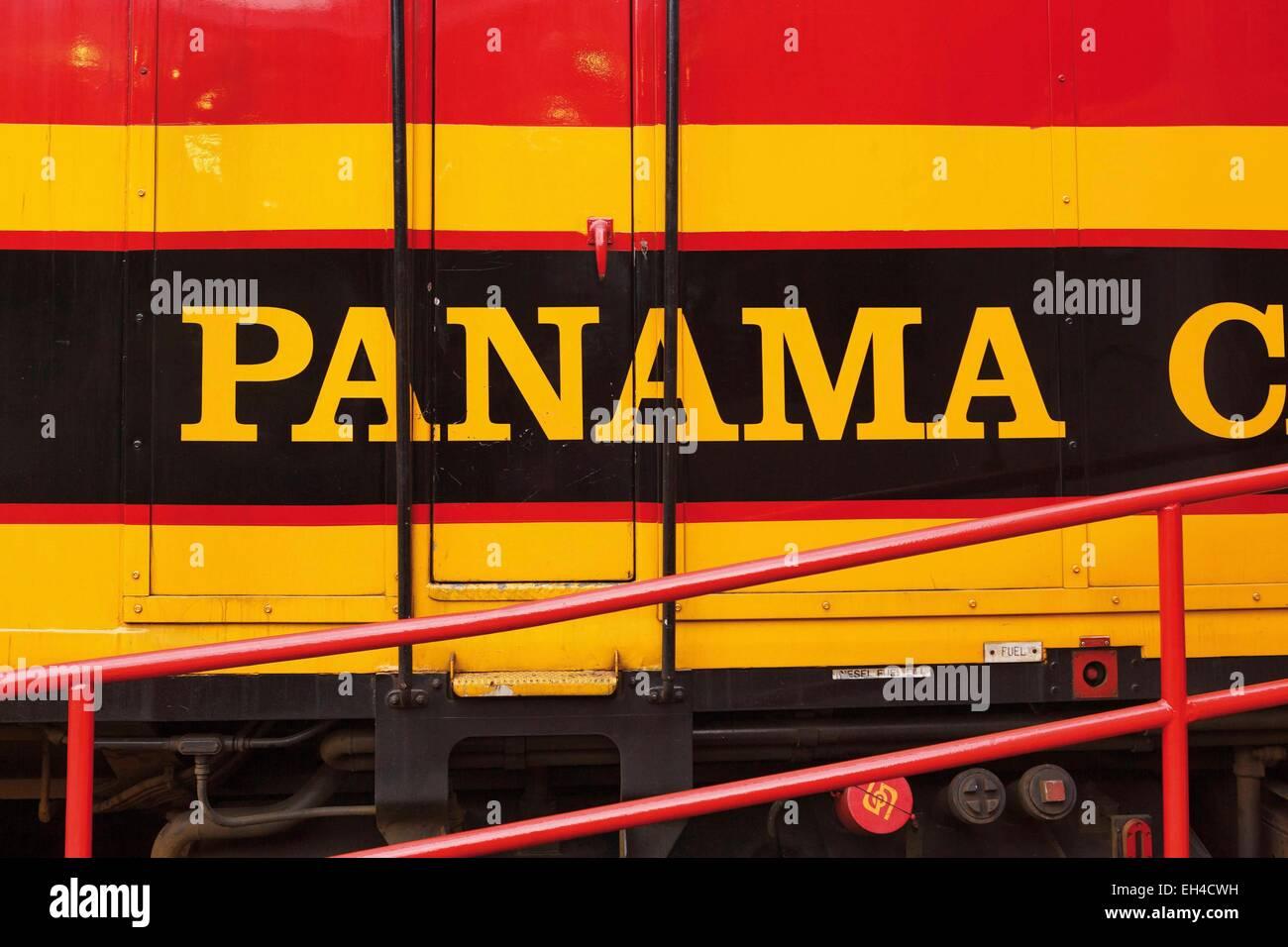 Panama, locomotiva del treno turistico Immagini Stock