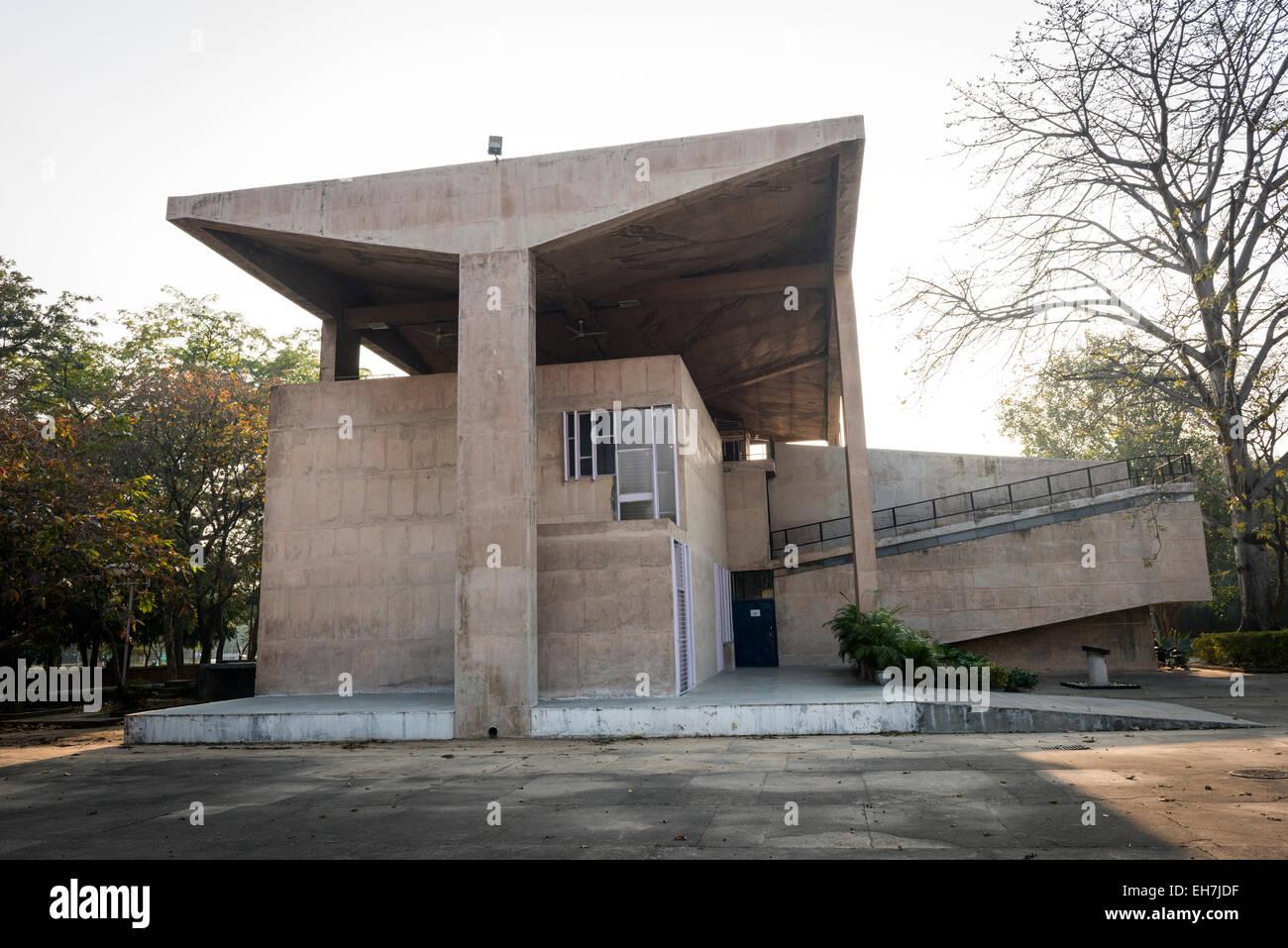Il Museo di Architettura di chandigarh, India Immagini Stock
