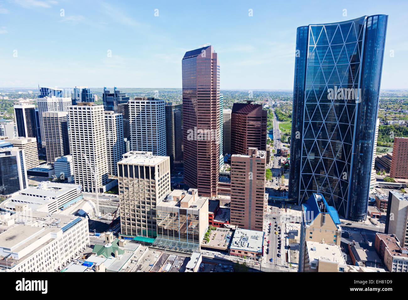 Panorama di Calgary. Calgary, Alberta, Canada Immagini Stock
