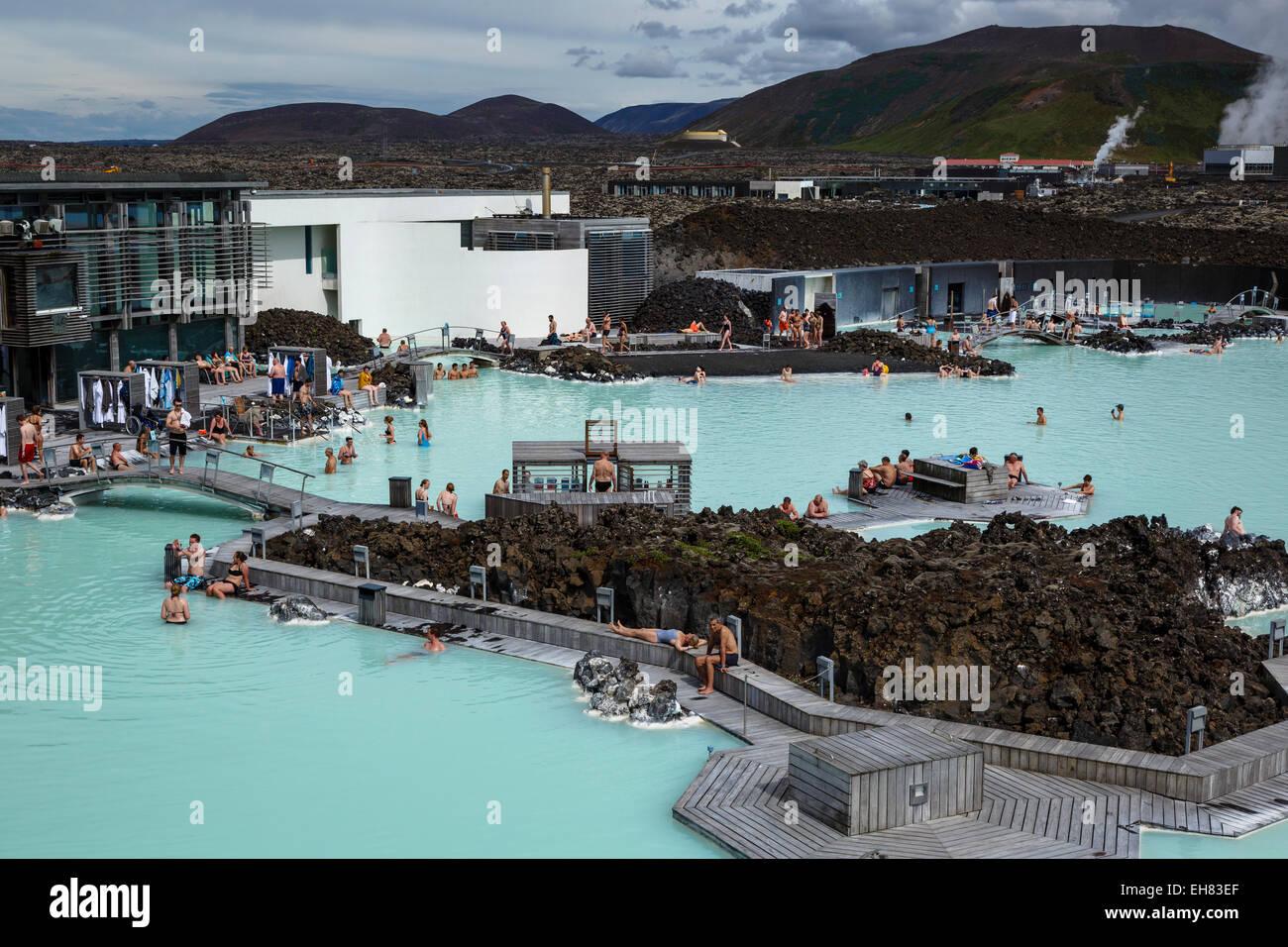 La Blue Lagoon, penisola di Reykjanes, Islanda, regioni polari Immagini Stock