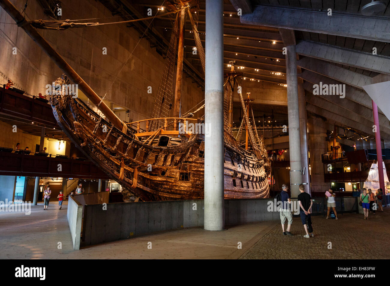Museo Vasa, Djurgarden, Stoccolma, Svezia, Scandinavia, Europa Immagini Stock