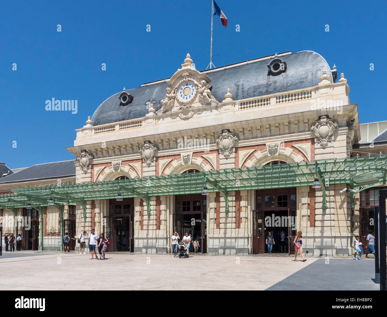La stazione ferroviaria di Nizza, in Francia, in Europa Immagini Stock