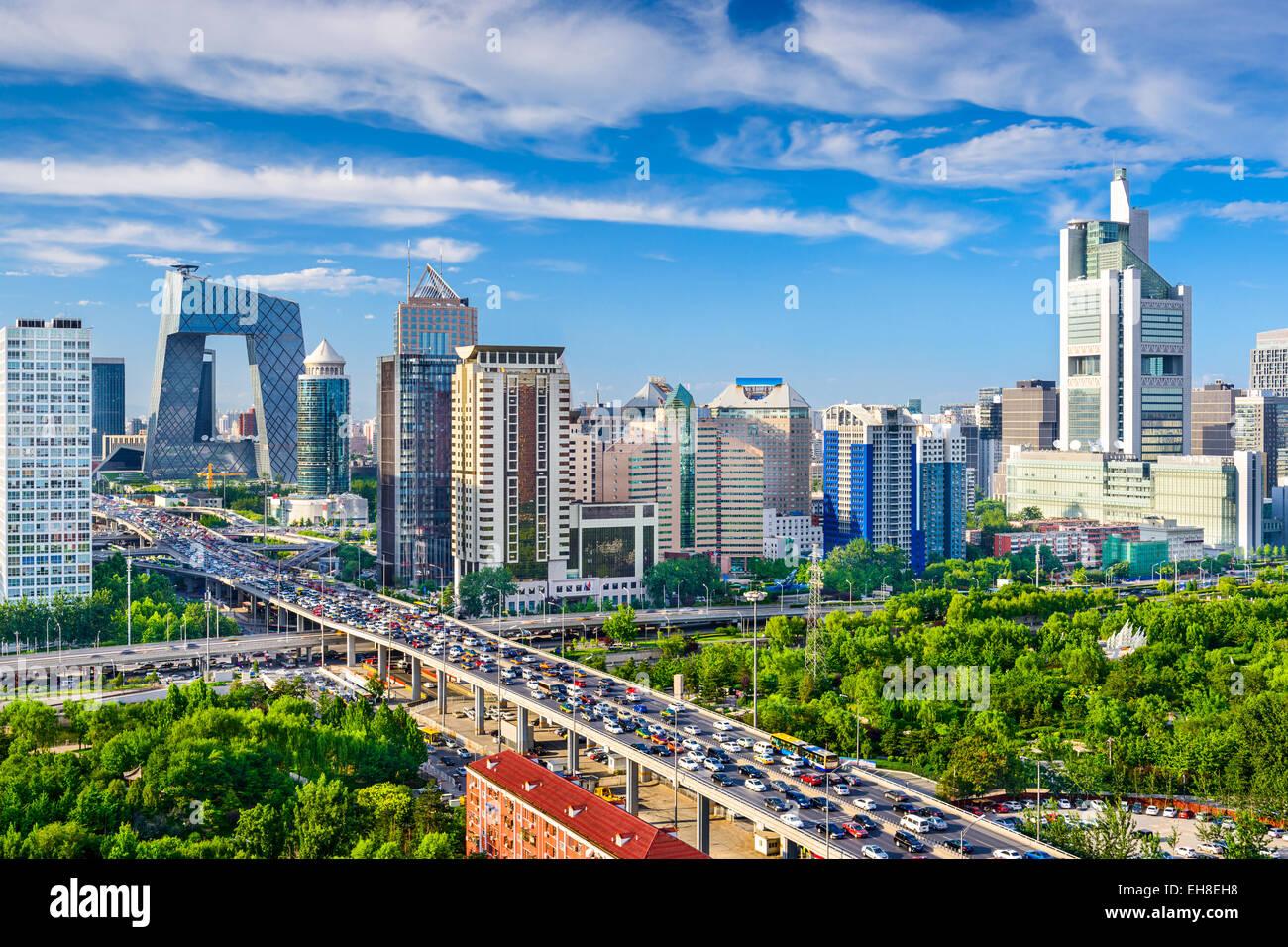 Pechino, Cina paesaggio urbano di CBD. Foto Stock
