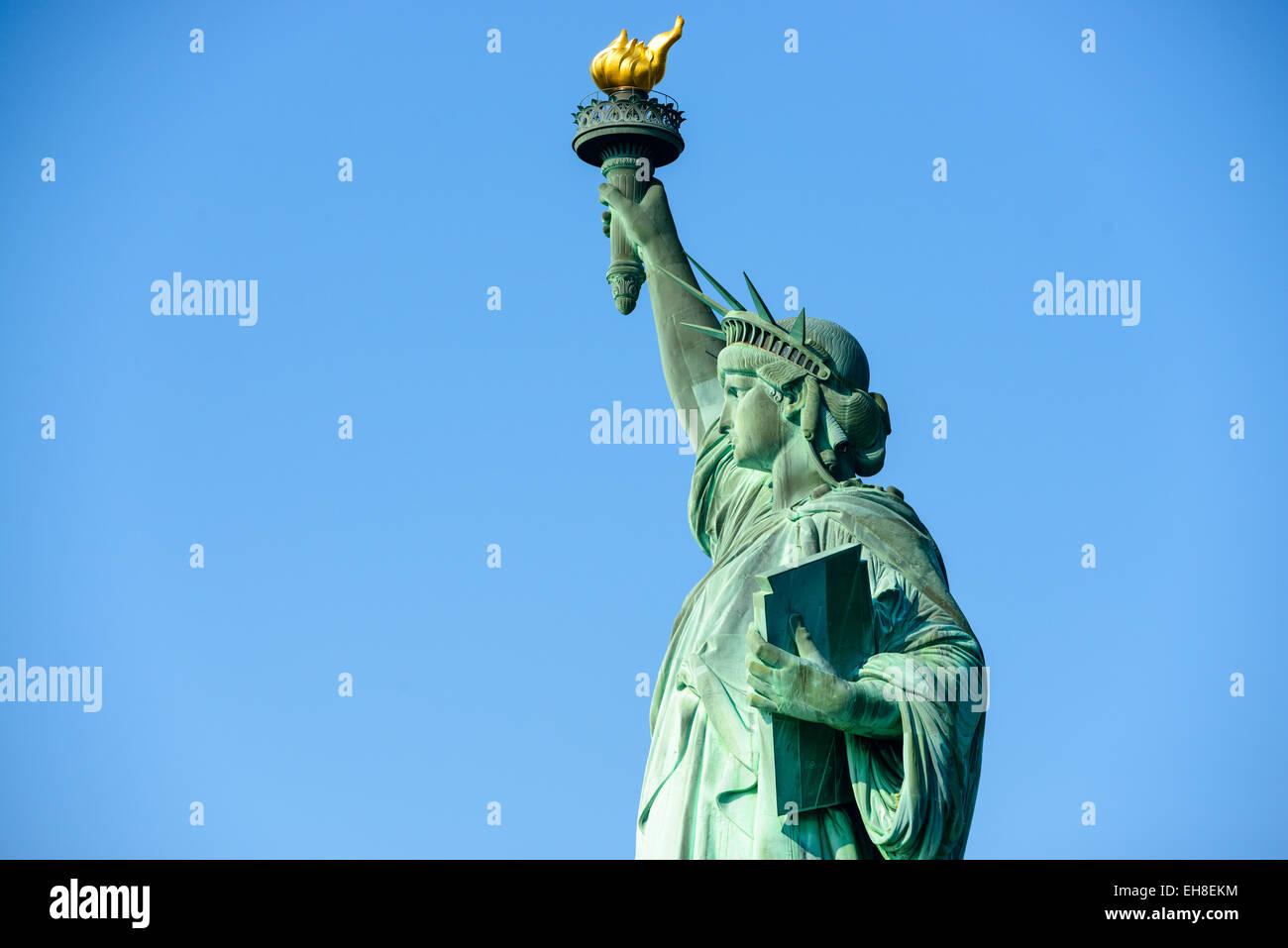 Statua della Libertà di New York City. Foto Stock