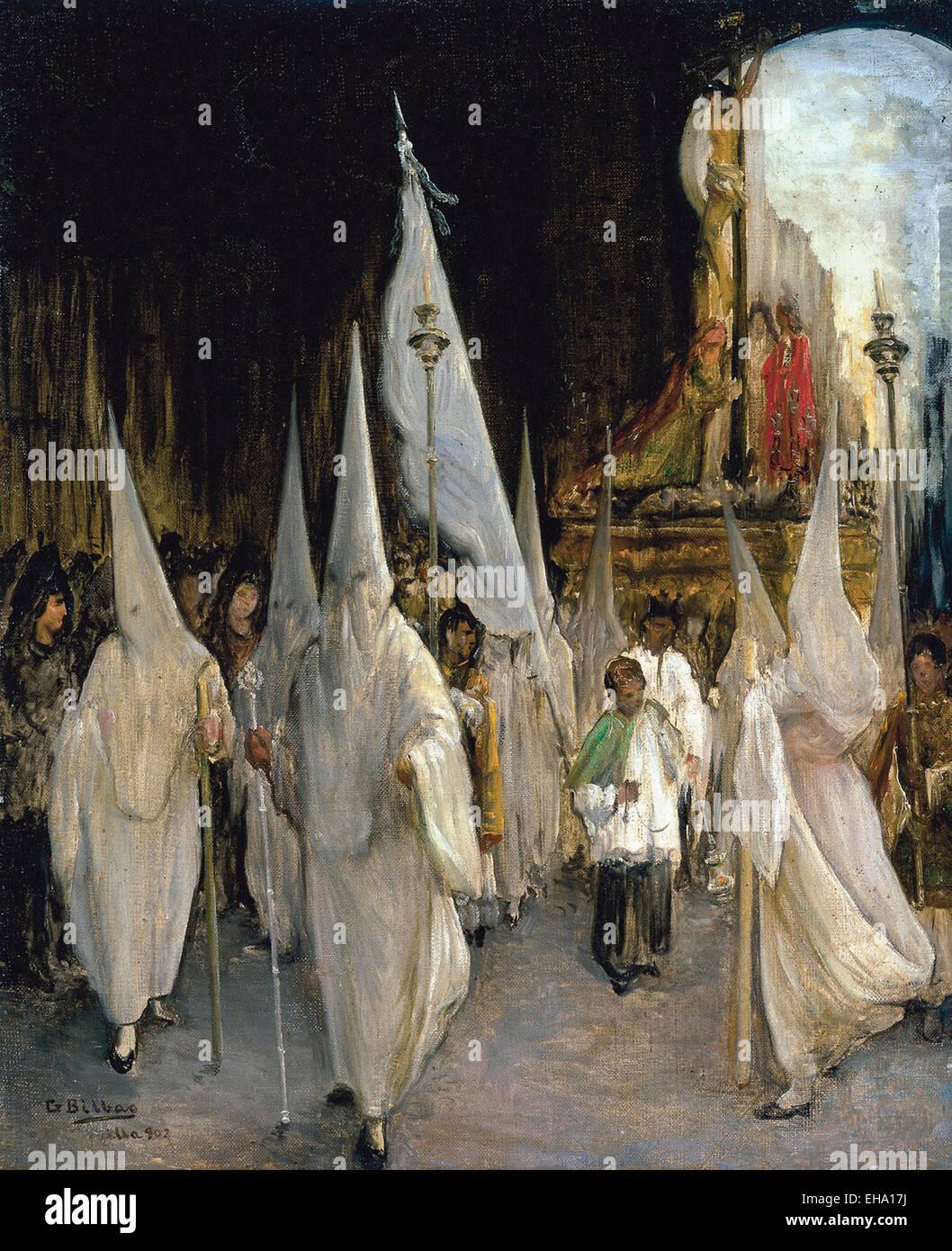 Gonzalo Bilbao Martínez Processione delle sette parole Immagini Stock