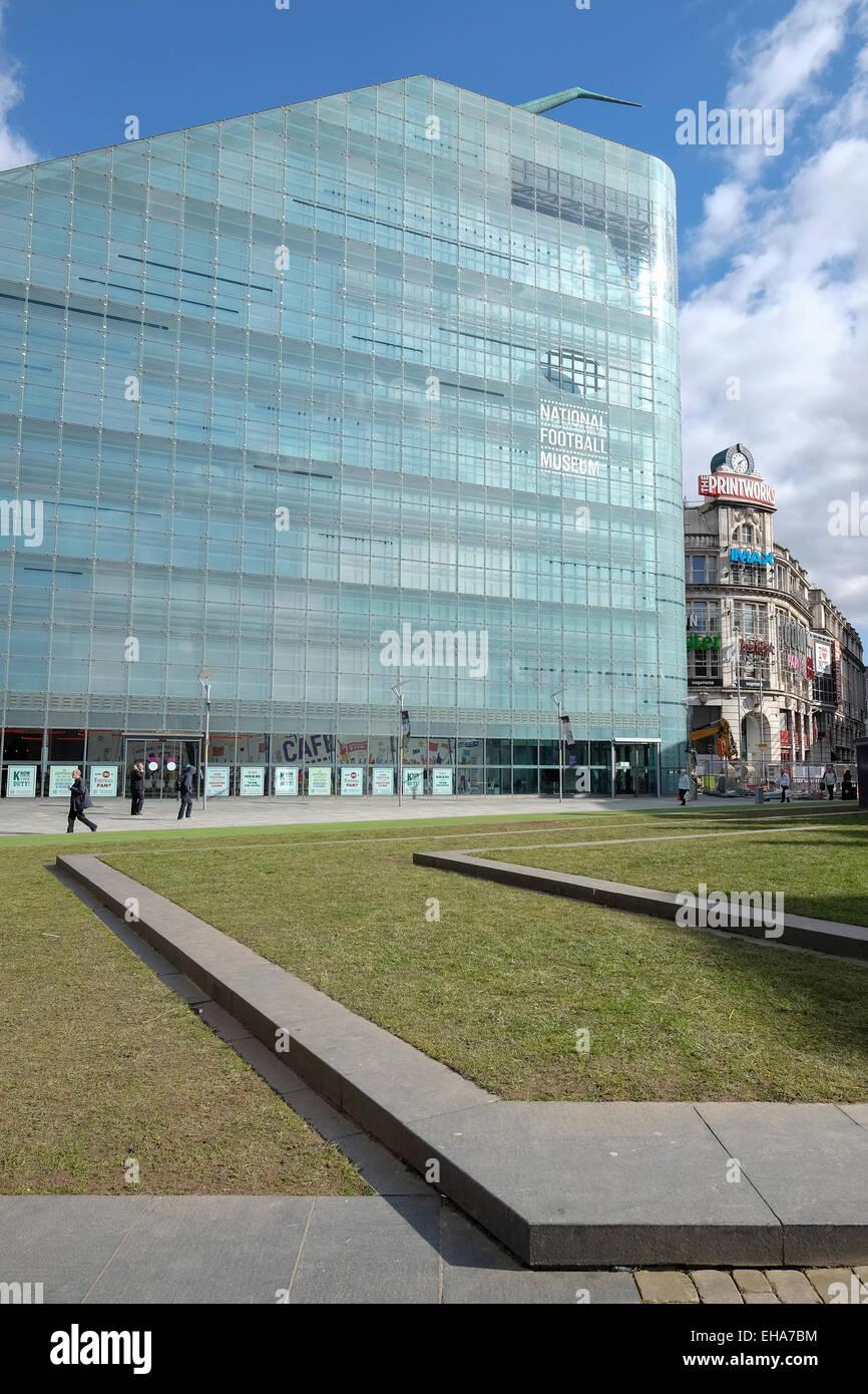4bf88aab14 Manchester, Inghilterra: Urbis edificio ospita il Museo Nazionale del Calcio  Immagini Stock