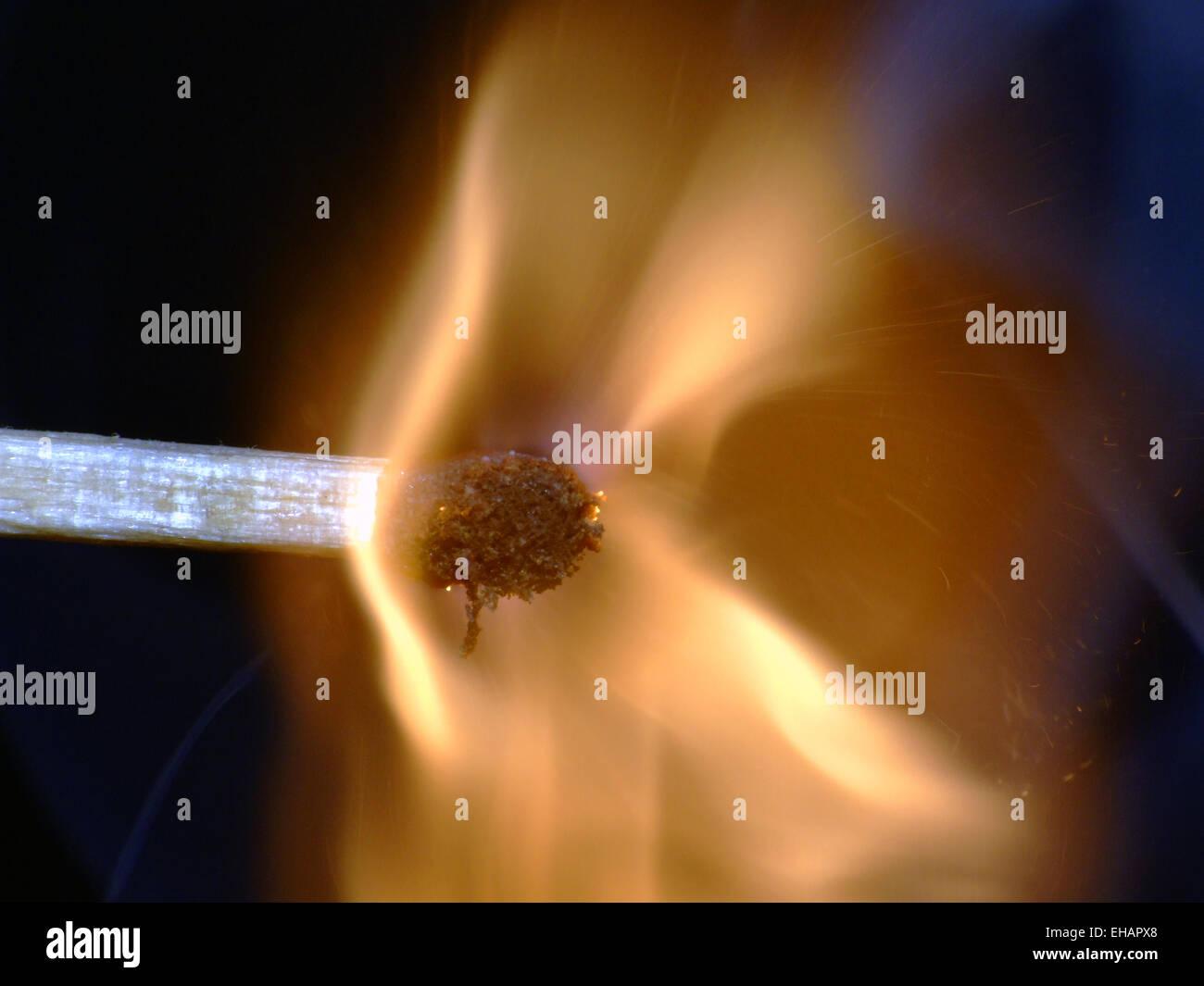 Zündholz / matchstick Immagini Stock