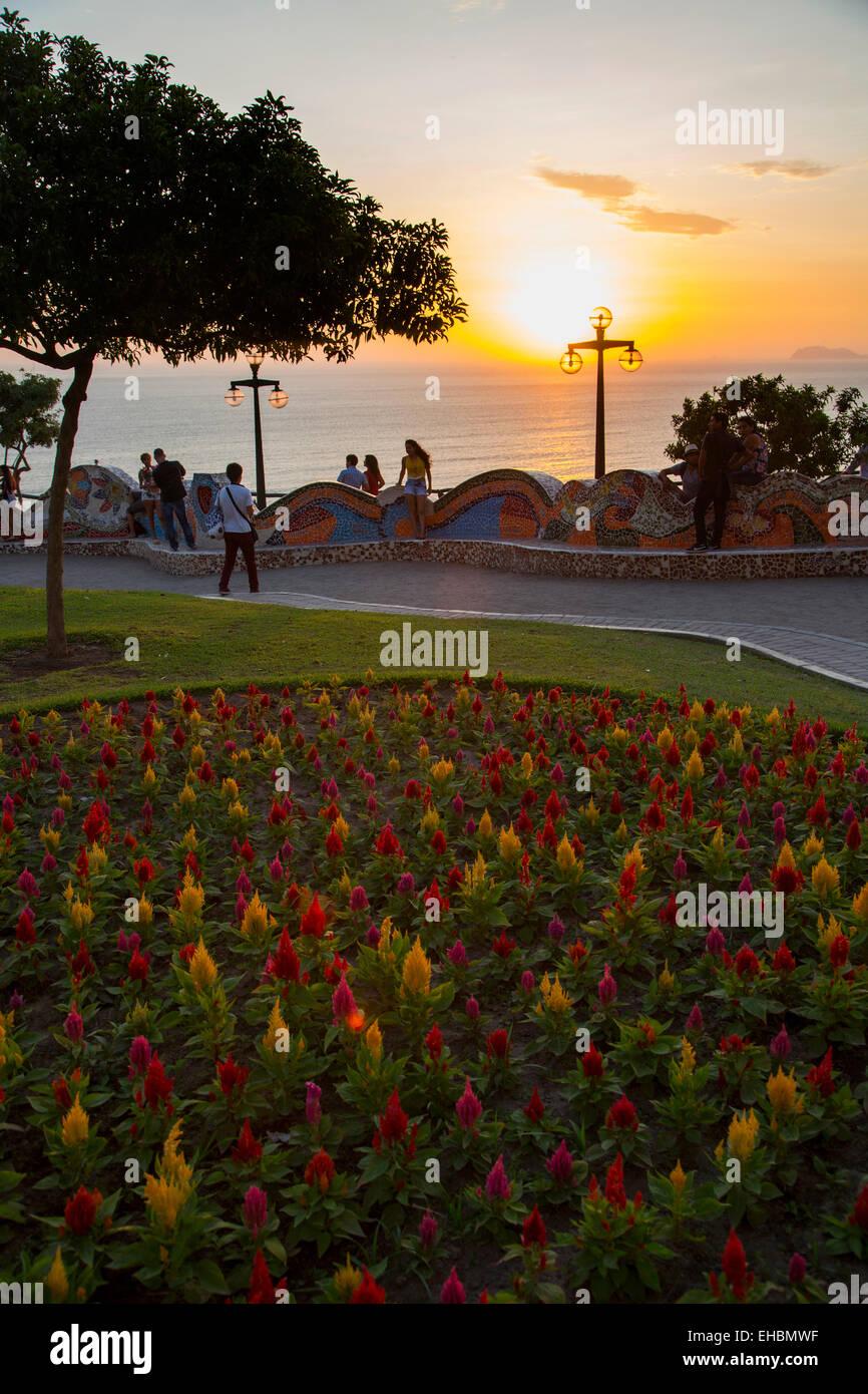 El Parque del Amor, amanti Park, Miraflores Lima, Perù Immagini Stock