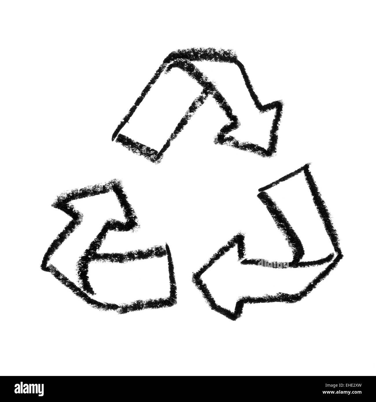 Simbolo di riutilizzo Immagini Stock