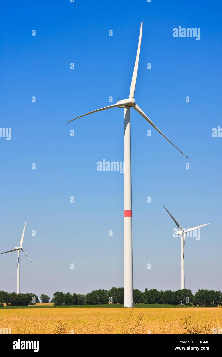Windkraftanlage, turbine eoliche Immagini Stock