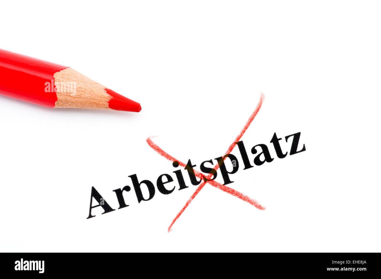 Arbeitsplatzverlust / perdita del posto di lavoro Immagini Stock