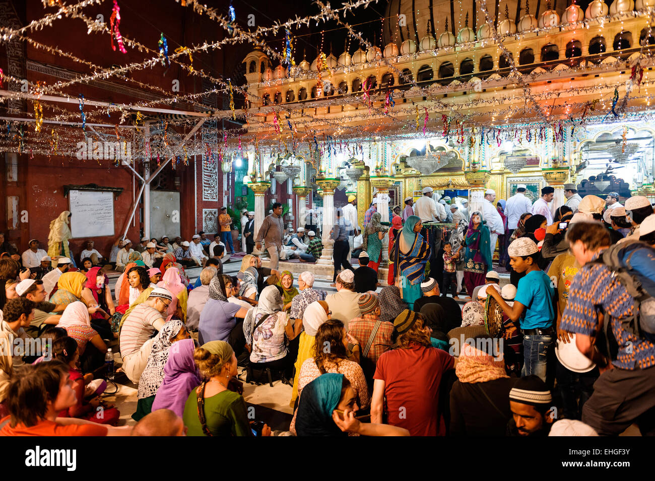 Nizamuddin Dargah, Nuova Delhi. Immagini Stock