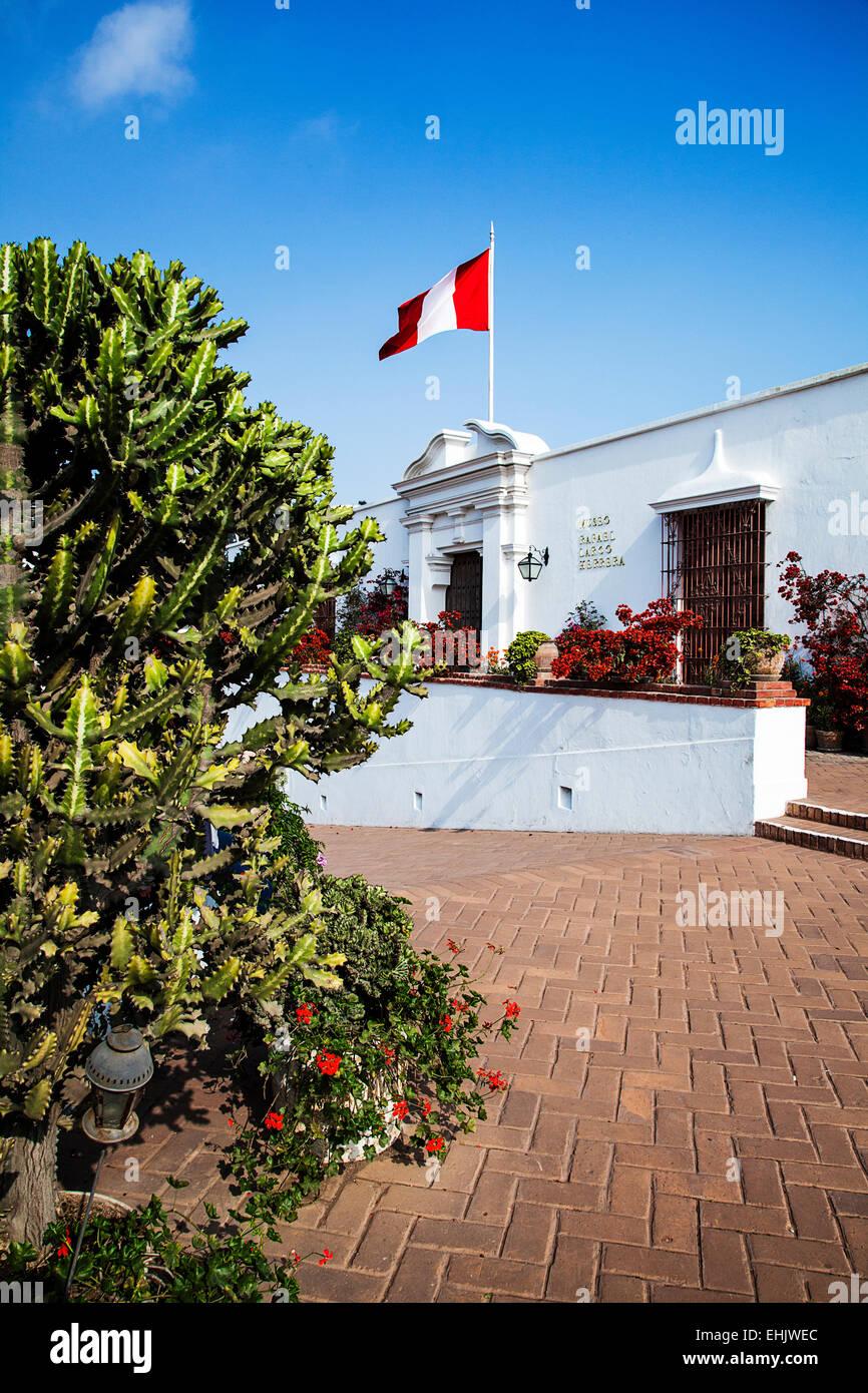 Il Museo Larco è chiamato dopo Rafael Larco Hererra che assemblato la vasta collezione di arte pre-colombiana Immagini Stock