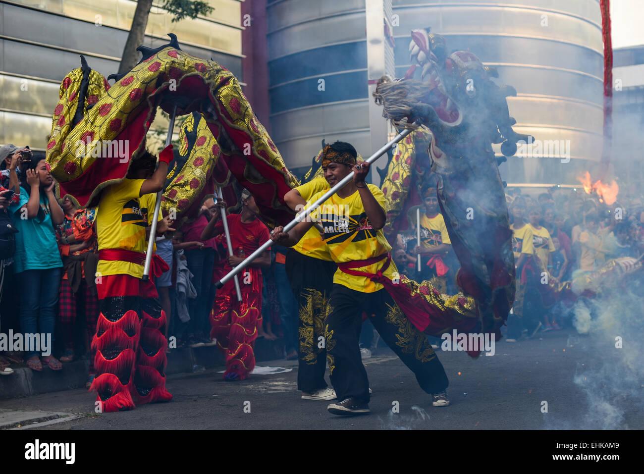 I cittadini di Bandung, Indonesia, celebrare Cap Vai Meh (equivalente alla festa delle lanterne) contrassegnando Immagini Stock