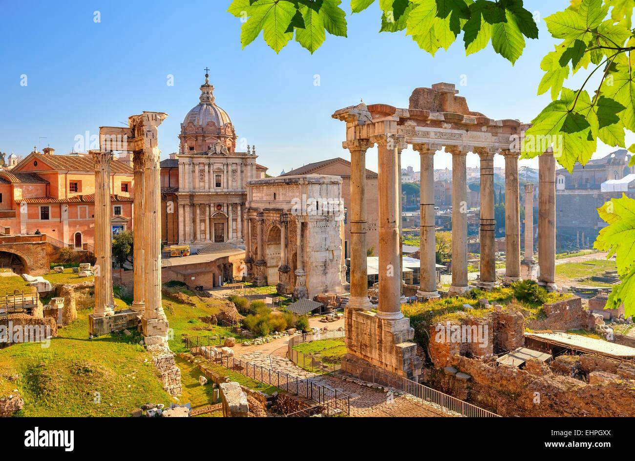 Le rovine romane di Roma, Forum Immagini Stock