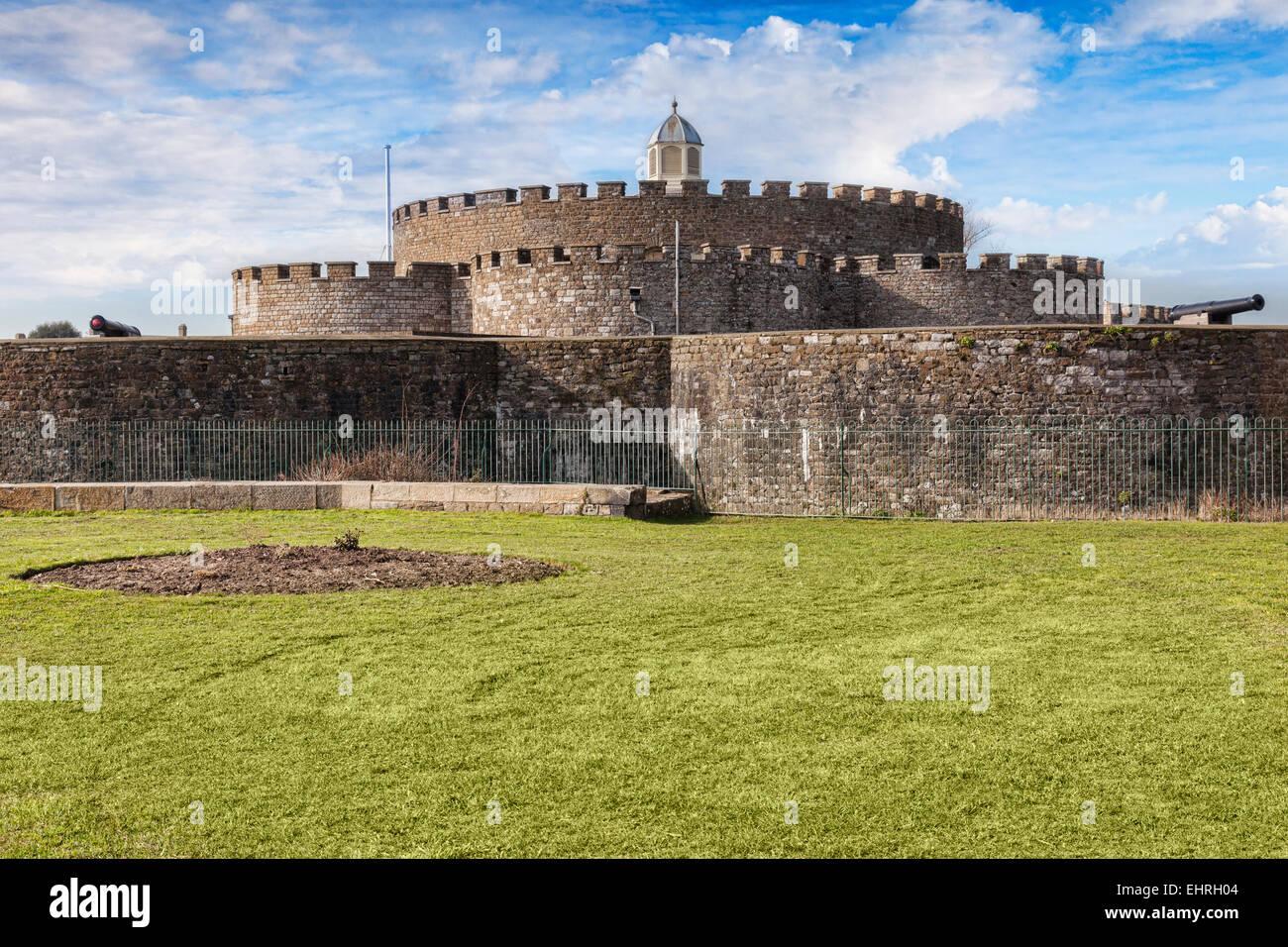 Il castello di trattativa, Kent, Inghilterra, Regno Unito, fu costruito per ordine di Enrico VIII e aperto nel 1540. Immagini Stock