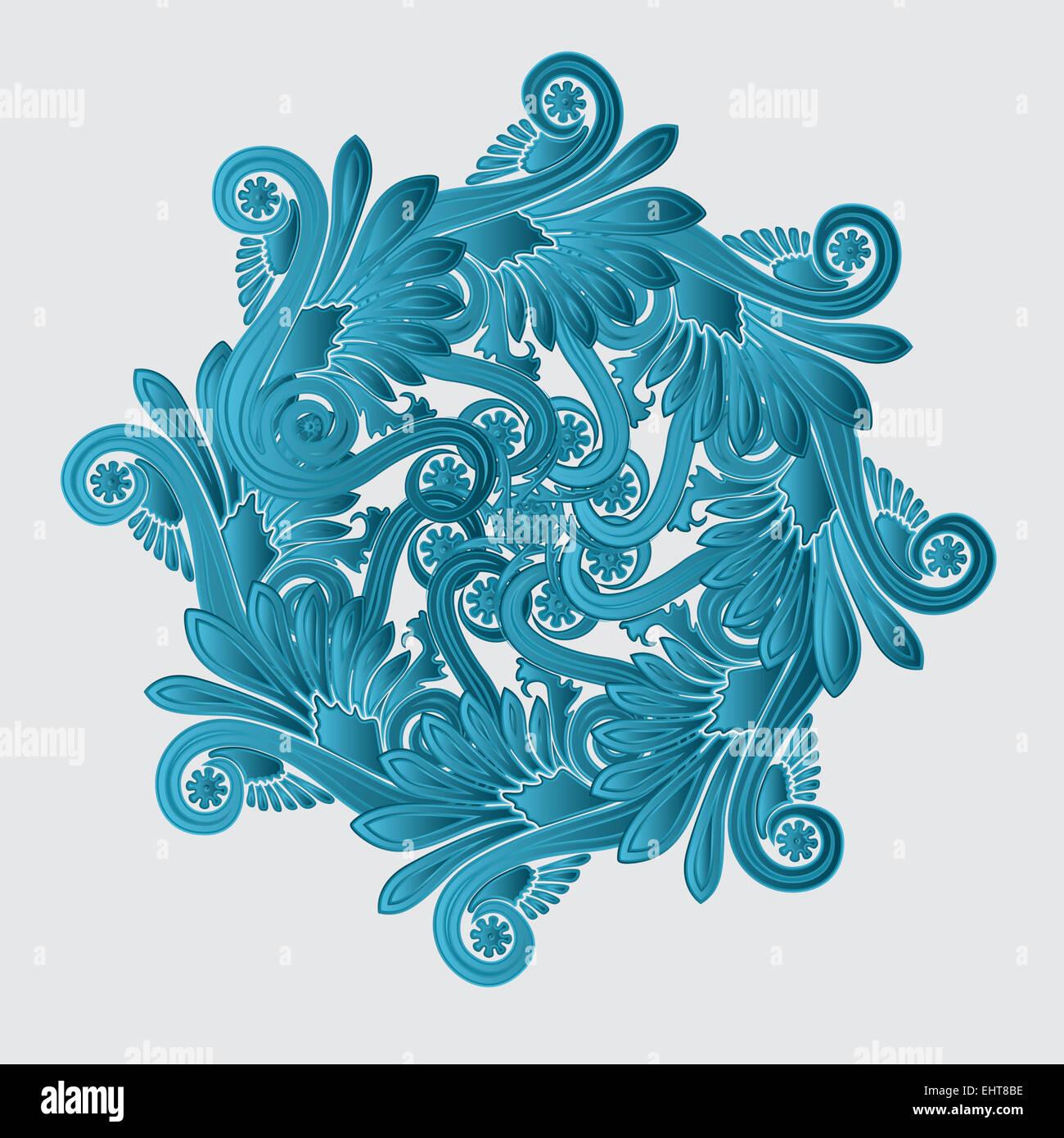 Fioriscono decorativo design Immagini Stock