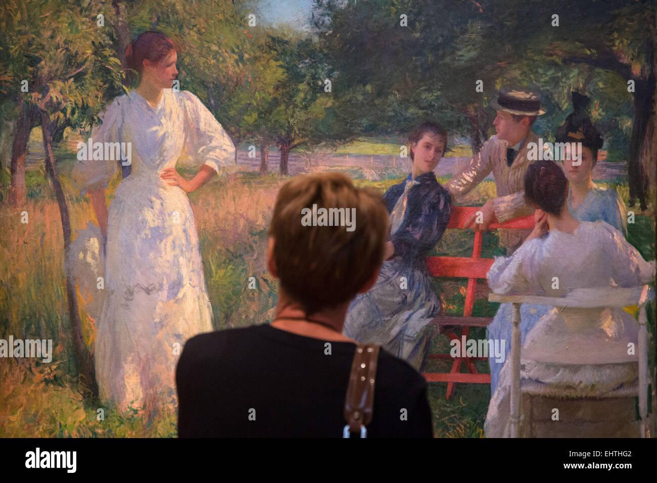 Museo di impressionismo, Giverny, Eure (27), Alta Normandia, Francia Immagini Stock
