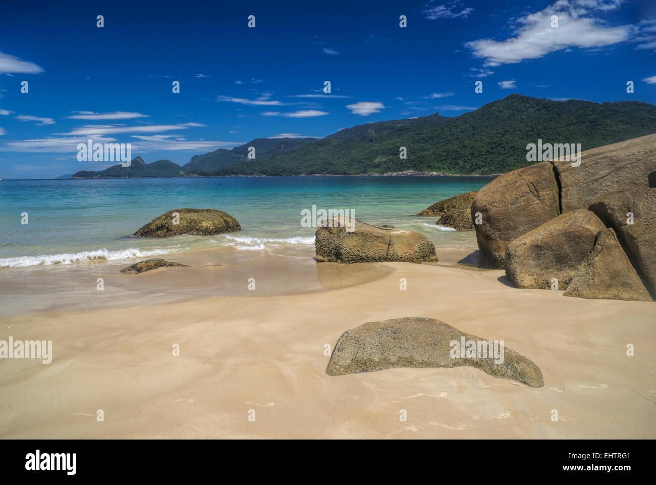 Scenic isola di Ilha Grande in Brasile, Sud America Immagini Stock