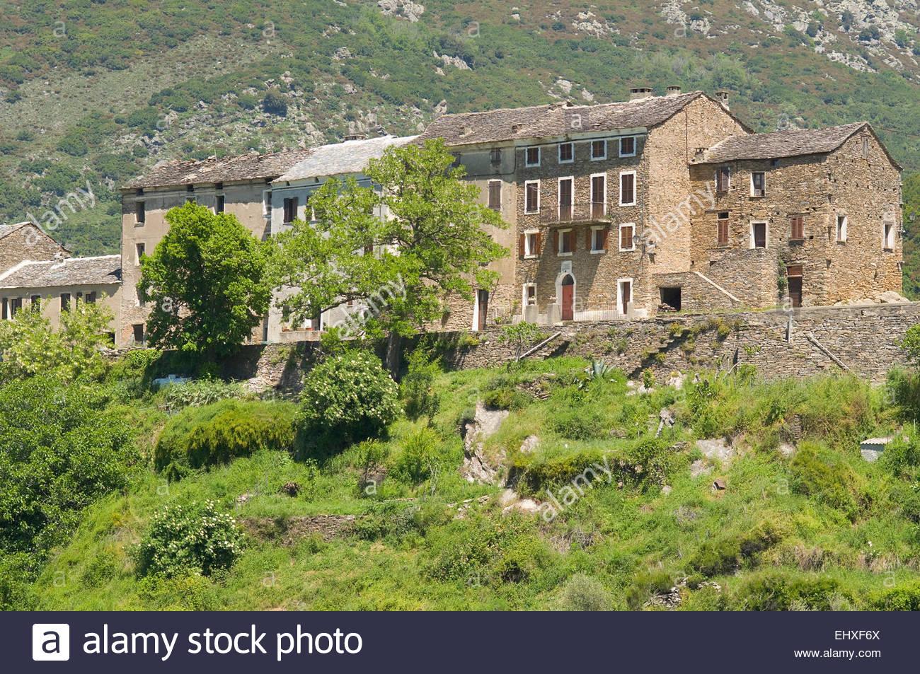 Case Di Montagna In Pietra : Vecchie case di pietra corsica montagna villaggio foto immagine