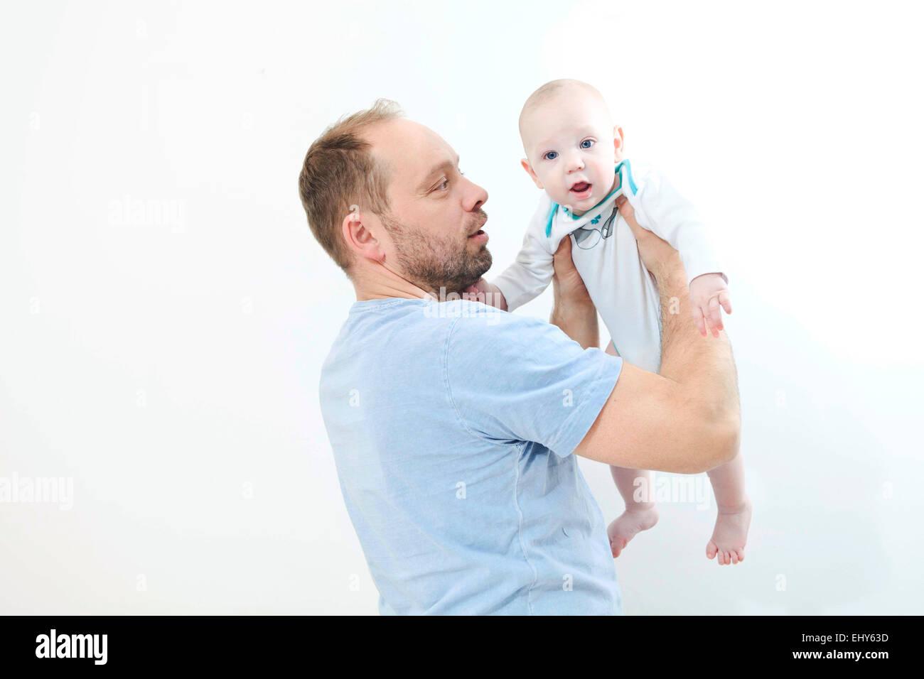 Padre con bambino Immagini Stock