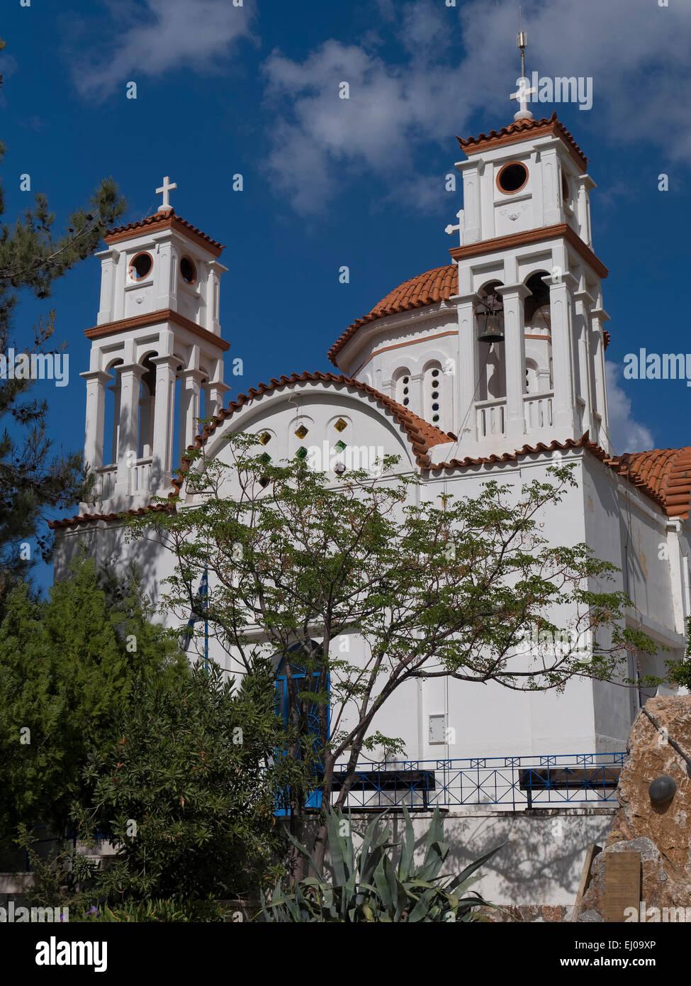 Aptera, Chania, cristianesimo, chiesa, Grecia, Europa, greco-ortodosso, Creta, cross Immagini Stock