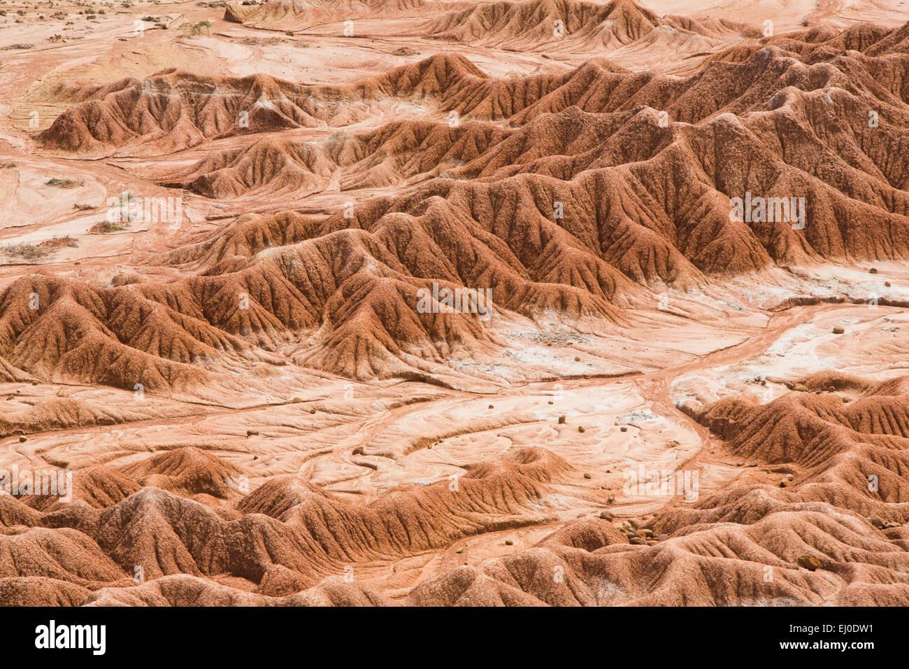 Sud America, America Latina, Colombia, natura, Tatacao, deserto, formazioni rocciose, Huila, erosione, parco nazionale, Immagini Stock
