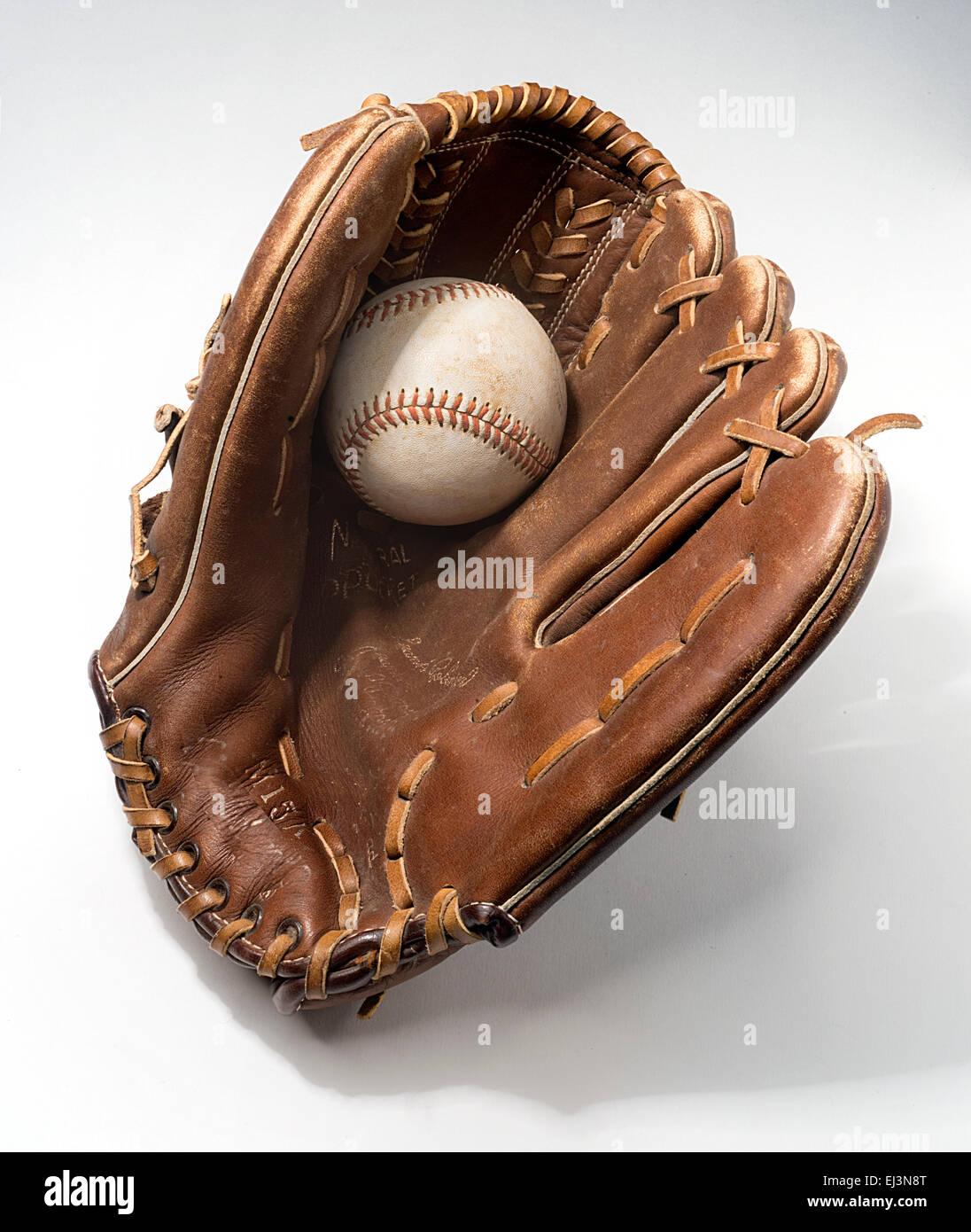guanto da baseball Immagini Stock