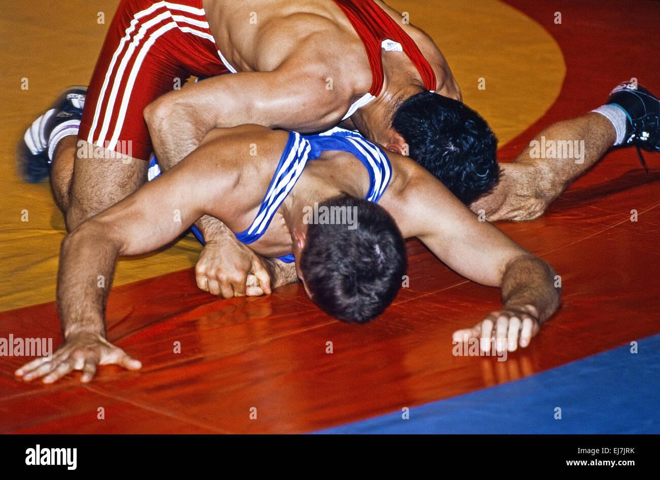 Il wrestling KSV Witten 07, Witten, Germania Immagini Stock