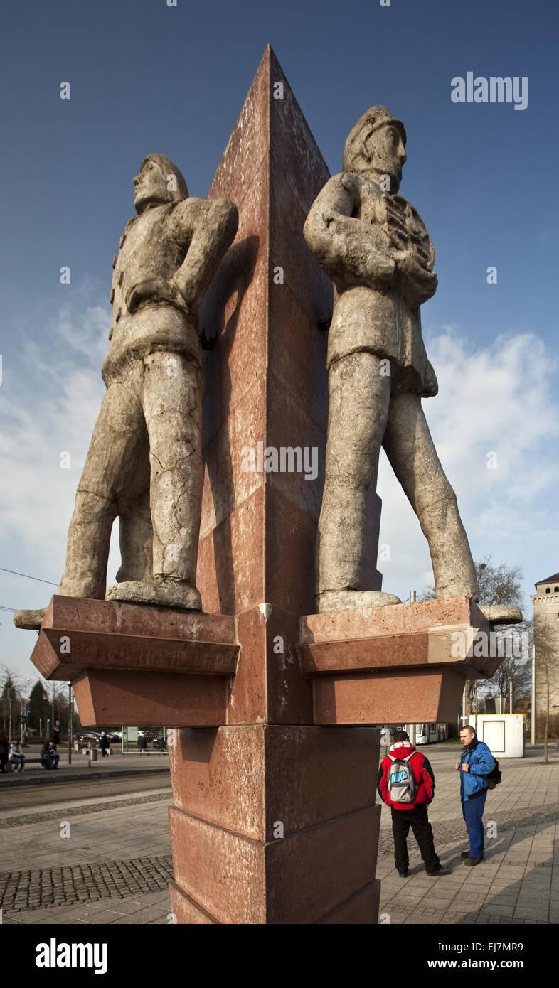 Tre uomini angolo, Herne, Germania Immagini Stock